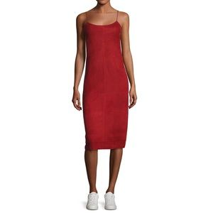 Theory Telson S Metises Suede Midi Dress